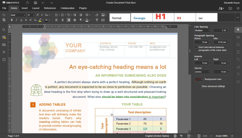 La nuova versione di ONLYOFFICE Docs è perfetta per chi deve lavorare anche con scarsa luminosità